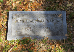 Minnie E. <I>Woodall</I> Martin