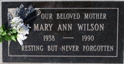 Mary Ann <I>Wilson</I> Pitts