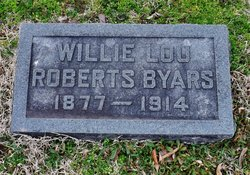 Willie  Lou Rose <I>Roberts</I> Byars