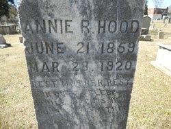 """Sarah Ann """"Annie"""" <I>Richardson</I> Hood"""