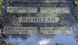 Margaret Jane <I>Thompson</I> MacMillan