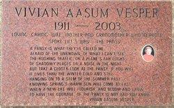 Vivian Audena <I>Ostrander</I> Aasum Vesper