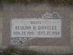 """Beulah """"Boots"""" <I>Herne</I> Wakolee"""