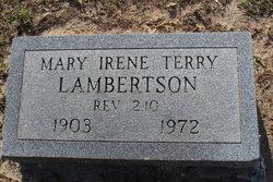 Mary Irene <I>Terry</I> Lambertson