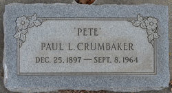 "Paul L ""Pete"" Crumbaker"