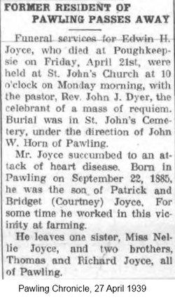 Edwin H Joyce
