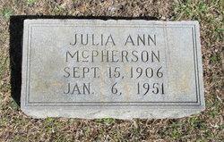 Julia Ann McPherson