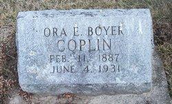 Ora Ethel <I>Boyer</I> Coplin