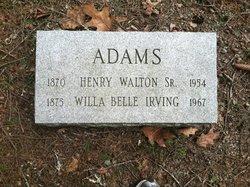 Willa Belle <I>Irving</I> Adams