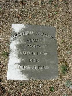 Alice Leslie <I>Pleasants</I> Adams