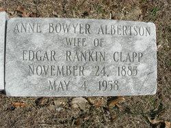 Annie Bowyer <I>Albertson</I> Clapp