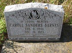 Caroll <I>Sanders</I> Barnes