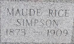 Maude <I>Rice</I> Simpson