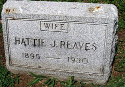 "Harriet ""Hattie"" <I>Johnson</I> Reaves"