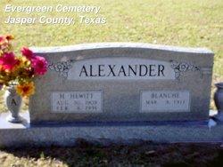 "Blanche ""Ms Alex"" <I>Morow</I> Alexander"