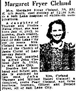 Margaret <I>Fryer</I> Cleland