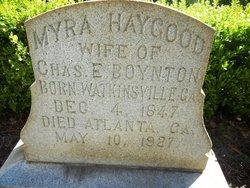 Myra A. <I>Haygood</I> Boynton