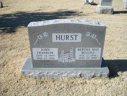 Bertha May <I>Rogers</I> Hurst