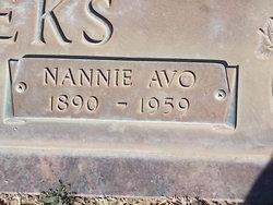 Nannie Avo <I>McGee</I> Meeks