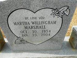 Martha <I>Willingham</I> Marshall
