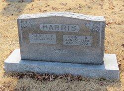 "Caroline G ""Carrie"" <I>Lee</I> Harris"