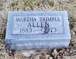 "Martha E ""Mattie"" <I>Trimble</I> Allen"