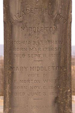 Elizabeth Elliott <I>Middleton</I> Kershaw