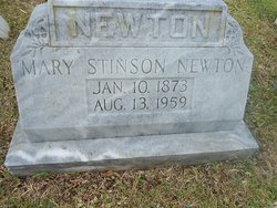 Mrs Mary <I>Stinson</I> Newton
