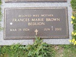 Frances Marie <I>Brown</I> Bedlion