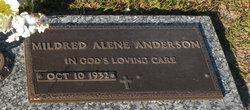 Mildred Alene <I>Lane</I> Anderson