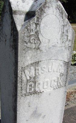 "Mrs Frances Ann ""AKA Mrs. J.R."" <I>Mashburn</I> Brock"