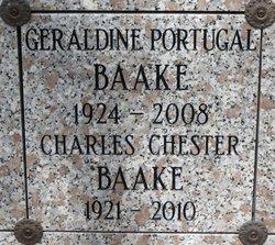 """Geraldine """"Gerry"""" <I>Portugal</I> Baake"""