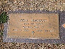 "Jefferson Price ""Pete"" Hackley"