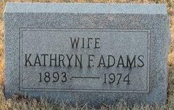 Kathryn F Adams