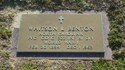 PFC Whitson Legrand Benton