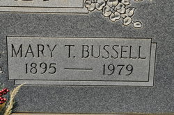 Mary <I>Toler</I> Bussell