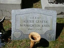 """Alexis Geneva """"Lexie"""" <I>McNaughton</I> Knox"""