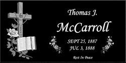 Thomas J McCarroll