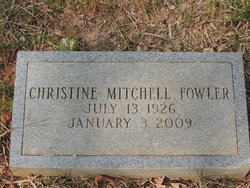 Christine <I>Mitchell</I> Fowler