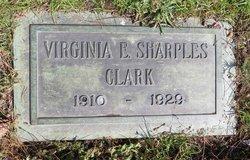 Virginia E <I>Sharples</I> Clark
