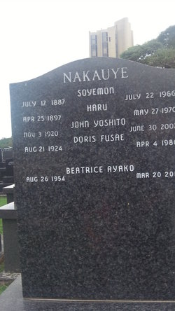 Haru <I>Babasaki</I> Nakauye