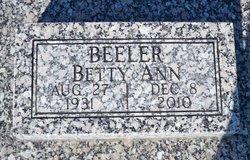 Betty Ann <I>Steggall</I> Beeler