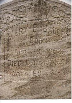 Mary E. <I>Buss</I> Bauder