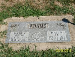 Sarah M. <I>Halcomb</I> Adams