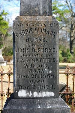 "Mary Caroline ""Carrie"" <I>Womack</I> Burke"