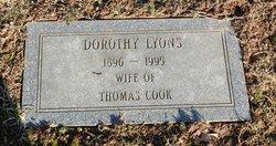 Dorothy <I>Lyons</I> Cook