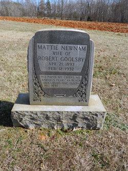 Mattie <I>Newnam</I> Goolsby