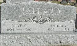 Olive Gertrude <I>Williams</I> Ballard