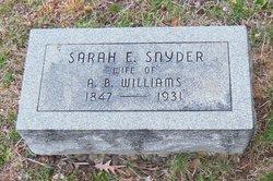 Sarah Elizabeth <I>Snyder</I> Williams