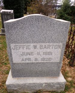 "Jefferson Davis ""Jeffie"" <I>Wynne</I> Barton"